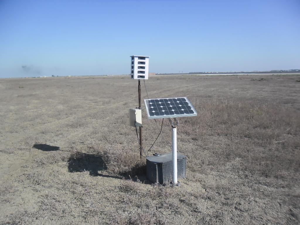 Биоакустический отпугиватель птиц Bird Gard Super Pro AMP в аэропорту Атырау, Казахстан.